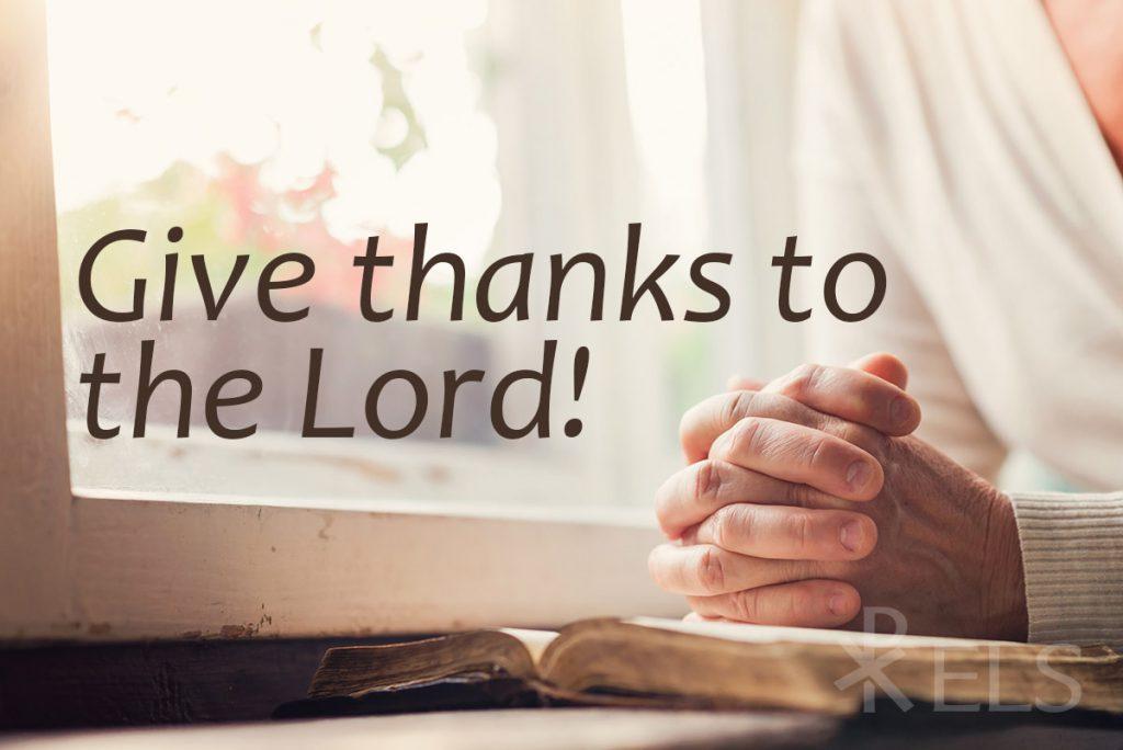 O Give Thanks!